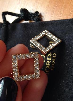 Серьги гвоздики oriflame giordani gold