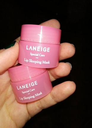 Мини версия ночной маски для губ laneige lip sleeping mask berry 3 г