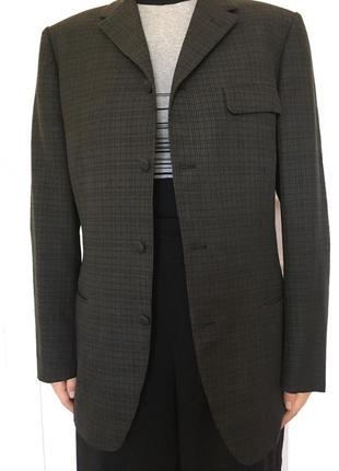 Новый мужской пиджак в клетку. размер 46-48.