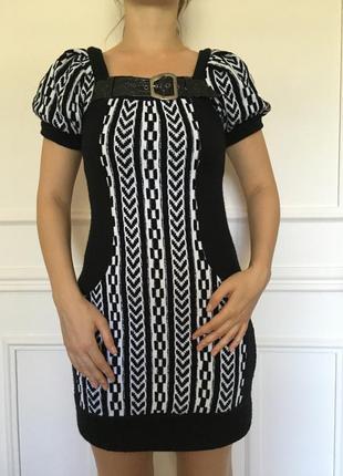 Теплое вязанное женское платье. размер 46-48.