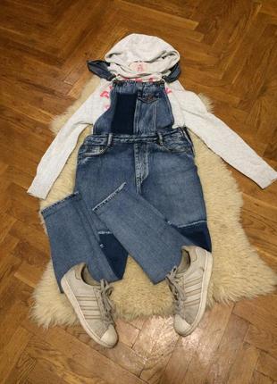 Крутой джинсовый комбинезон pull&bear