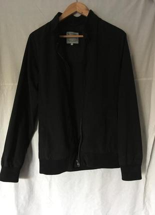 Черная спортивный мужская куртка (весна/осень). размер 46-48.
