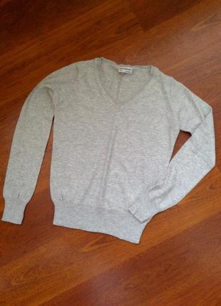 36-38р. светлый мягкий джемпер-пуловер-кофта