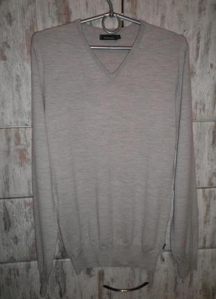 Базовый свитер джемпер matinique мягкий и качественный 100% шерсть l
