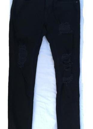 Черные мужские джинсы pull&bear. размер 46-48.