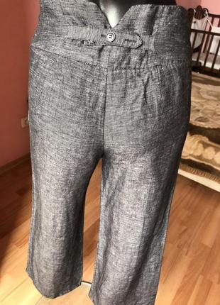 Штаны h&m кюлоты лён с вискозой, размер 44, 462 фото