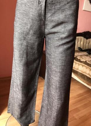 Штаны h&m кюлоты лён с вискозой, размер 44, 465 фото