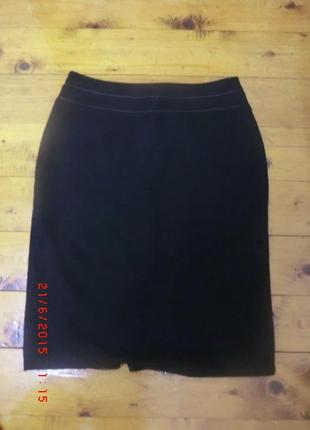 Офисная черная юбка