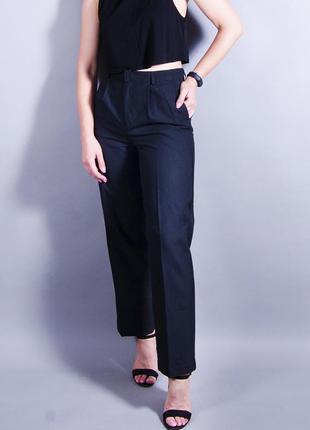 Классические брюки, черные брюки со стрелками, прямые строгие брюки