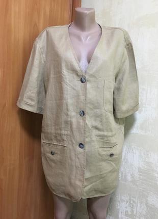 Роскошный льняной жакет,пиджак donna barbara