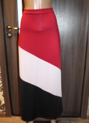 Трикотажная юбка в идеальном состоянии l-xl