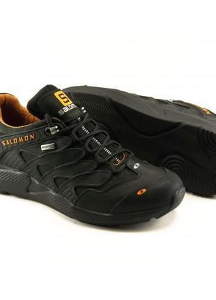 Демисезонные кроссовки s-3 черный с оранжевым