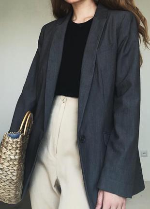 Актуальный серый пиджак  f&f