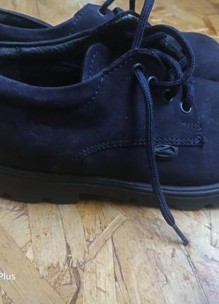 Замшевые туфли ботинки