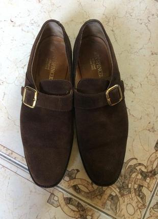 Фирменные мужские туфли john spencer. натуральная замша. размер 42