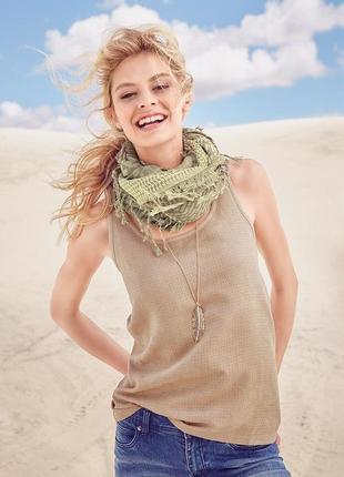 Стильная блуза-майка с перфорацией мягенькая замша  песочный цвет tchibo размер 36 / 38