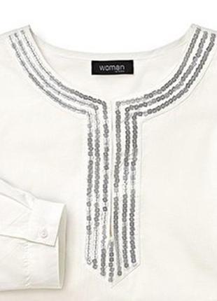 Женственная роскошная блуза с пайетками tchibo, германия