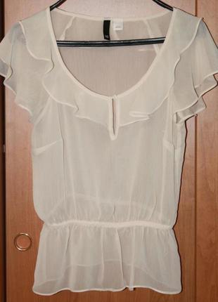 Блуза шифон h&m,10.