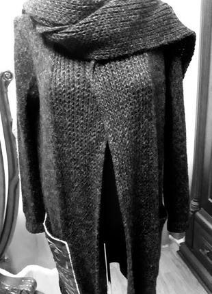 Вязаный кардиган пальто