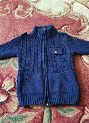 Стильный пуловер, кофта на замке
