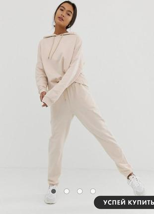 Спортивный костюм из худи и узких джоггеров с завязкой asos design