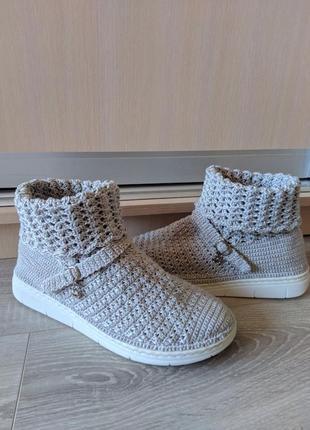 Ботиночки сапожки полусапожки вязаные ручная работа женская обувь
