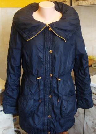 Плащ куртка балоневый синяя golddigga размер м/l 100% нейлон