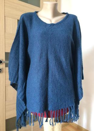 Blugirl blumarine роскошный свитер пончо