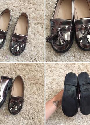 Крутые кожаные туфельки зара