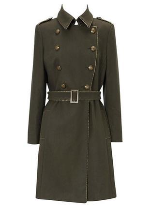 Новое шерстяное пальто в стиле милитари oasis размер s