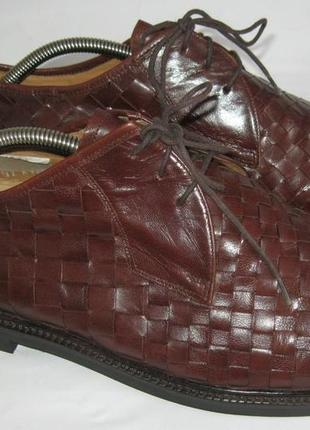 - фирменные кожаные ортопедические плетеные туфли - solidus - 46 -