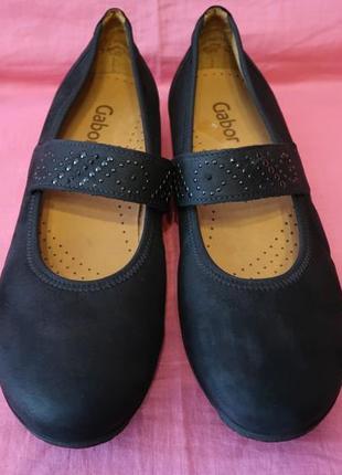 Кожаные туфли балетки gabor (оригинал made in portugal) - (7) 40 размер