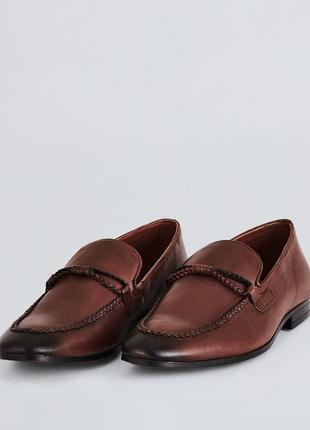 Туфли лоферы кожаные коньячные англия 40-41 р.