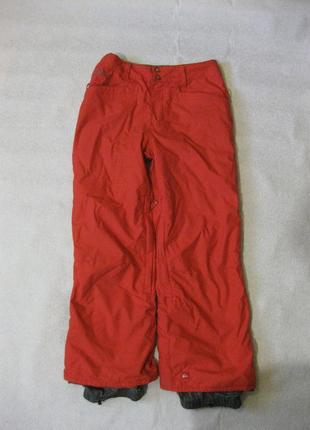 150-158 рост, лыжные термо штаны красно-розовые от quik silver