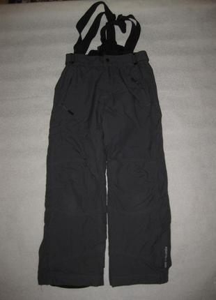 150-158 рост, лыжные термо штаны от alpine, тёмно-серые