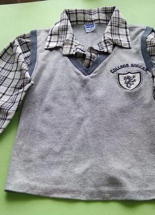 Рубашка обманка для мальчика atabay.рост 104-110