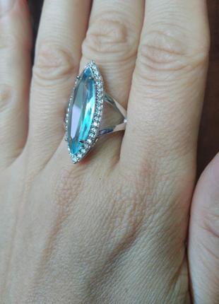 Кольцо бирюзовое 19 размер