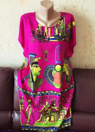 Платье, туника, летнее, хлопок, натуральное1 фото