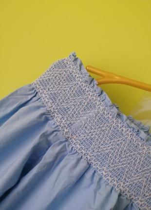 Платье с вышивкой открытыми плечами zara6 фото