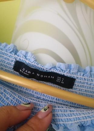 Платье с вышивкой открытыми плечами zara7 фото