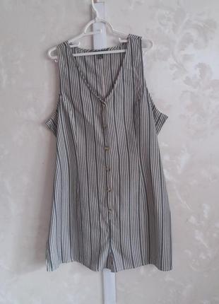 Хлопковый ромпер шортами на пуговицах primark большой размер