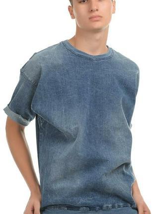 Джинсовая футболка zara
