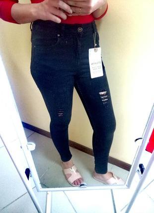 Суперкачественные джинсы skinny dilvin черные 38 скинни