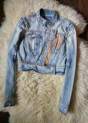 Укороченная джинсовая курточка terranova