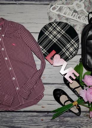 8 - 9 лет 134 см h&m очень модная фирменная блузка рубашка девочке клетка