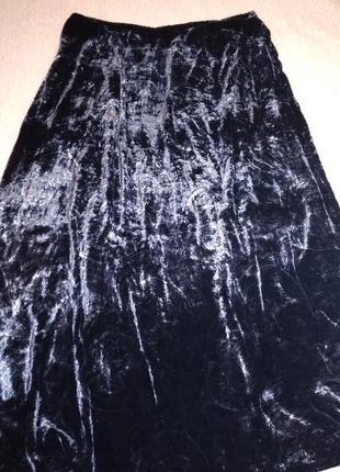 Велюровая юбка большого размера