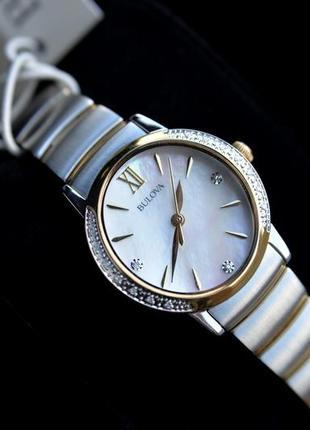 Скидка! женские часы с бриллиантами bulova подарок девушке на 8 марта1 фото
