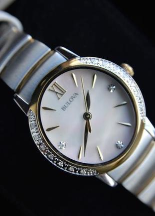 Скидка! женские часы с бриллиантами bulova подарок девушке на 8 марта8 фото