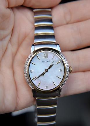 Скидка! женские часы с бриллиантами bulova подарок девушке на 8 марта5 фото