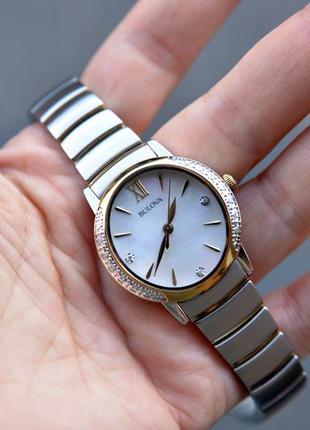 Скидка! женские часы с бриллиантами bulova подарок девушке на 8 марта6 фото